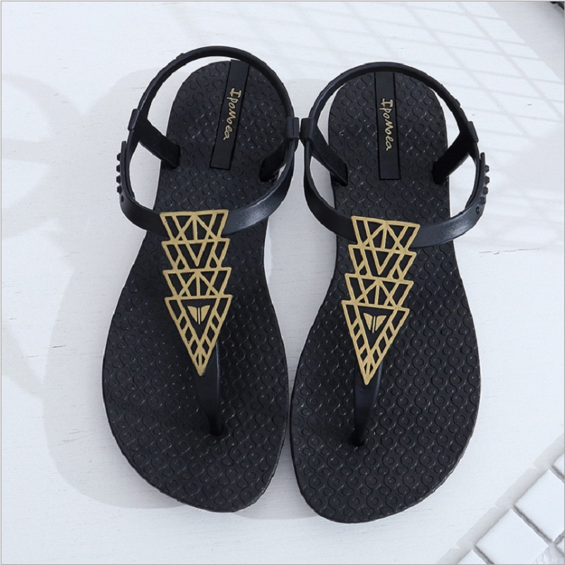 Leisure Beach Sandals Flat With Flower Tree Ankle Strap Sandals Women Shoes Flip Flops Sandals Bohemian Fashion Comfort Q0147 trendy women s sandals with flip flops and strap design