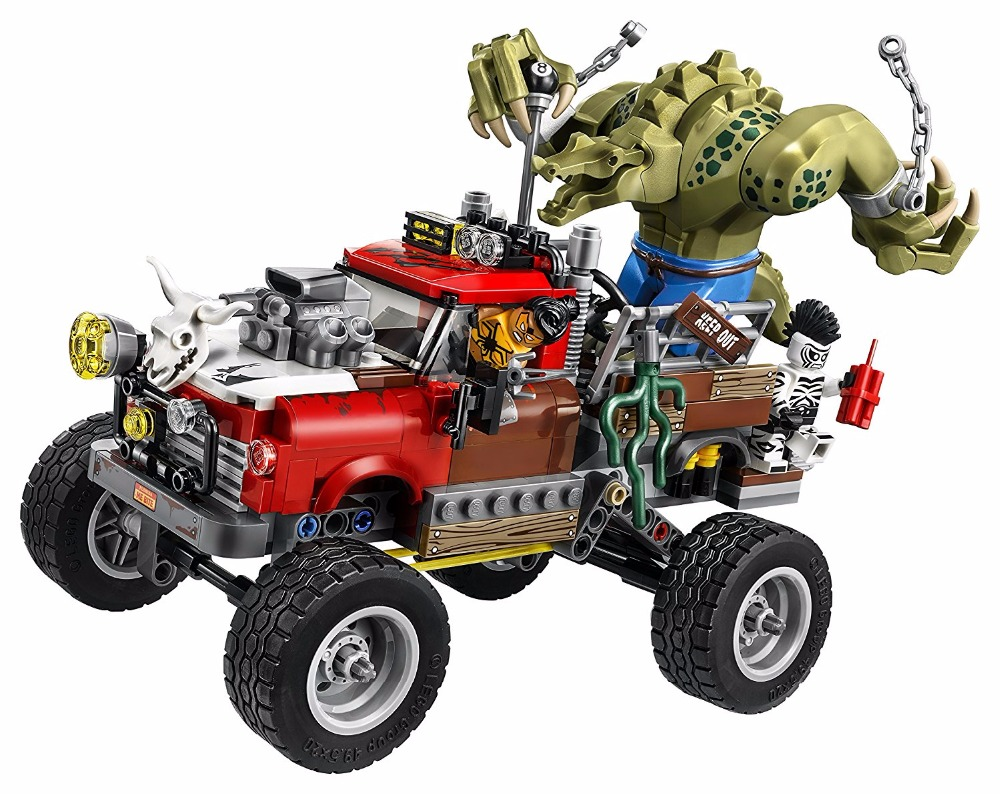 LEPIN Batman Series Killer Croc Tail-Gator Building Blocks Bricks Movie Model Kids Toys Marvel Compatible Legoe