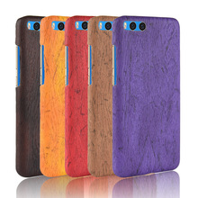 For Xiaomi Mi 6 Mi6 Case Hard PC+PU Leather Retro wood grain Phone Cover Luxury Wood for