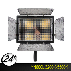 YONGNUO KIT YN600L CRI95 LED Video Light Panel with AC Power Adapter Adjustable 3200K-5500K YN-600L LED Studio Light