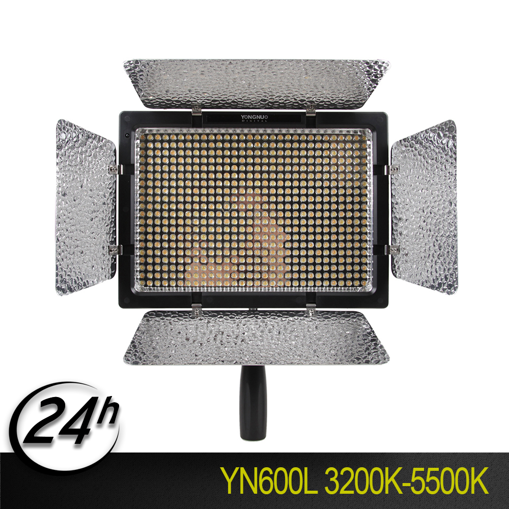YONGNUO KIT <font><b>YN600L</b></font> CRI95 LED Video Light Panel with AC Power Adapter Adjustable 3200K-5500K YN-600L LED Studio Light image