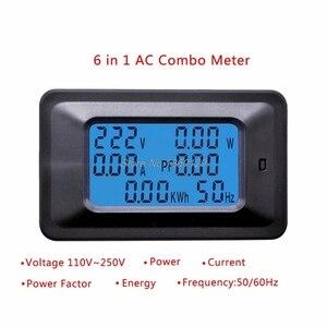 20a/100a ac lcd digital painel de energia medidor watt monitor tensão kwh voltímetro amperímetro testador ferramentas atacado & dropship