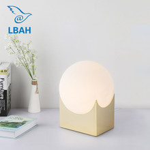Nordic modern bedroom creative personality simple designer lamp study living room warm small desk lamp(China)