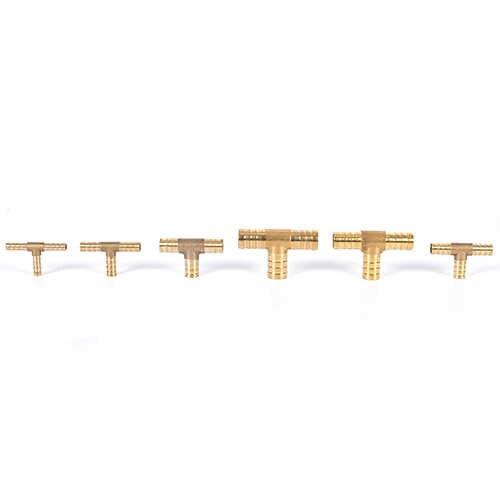 Латунь Сварочный аппарат трубы фитинг T Форма 3 Way штуцер для шланга 6 мм 8 мм 10 мм 12 мм 16 мм Медь колючей Соединительный шов муфта адаптер