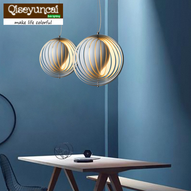 Qiseyuncai American country retro minimalist restaurant bar lamp room European style Panton moon chandelier