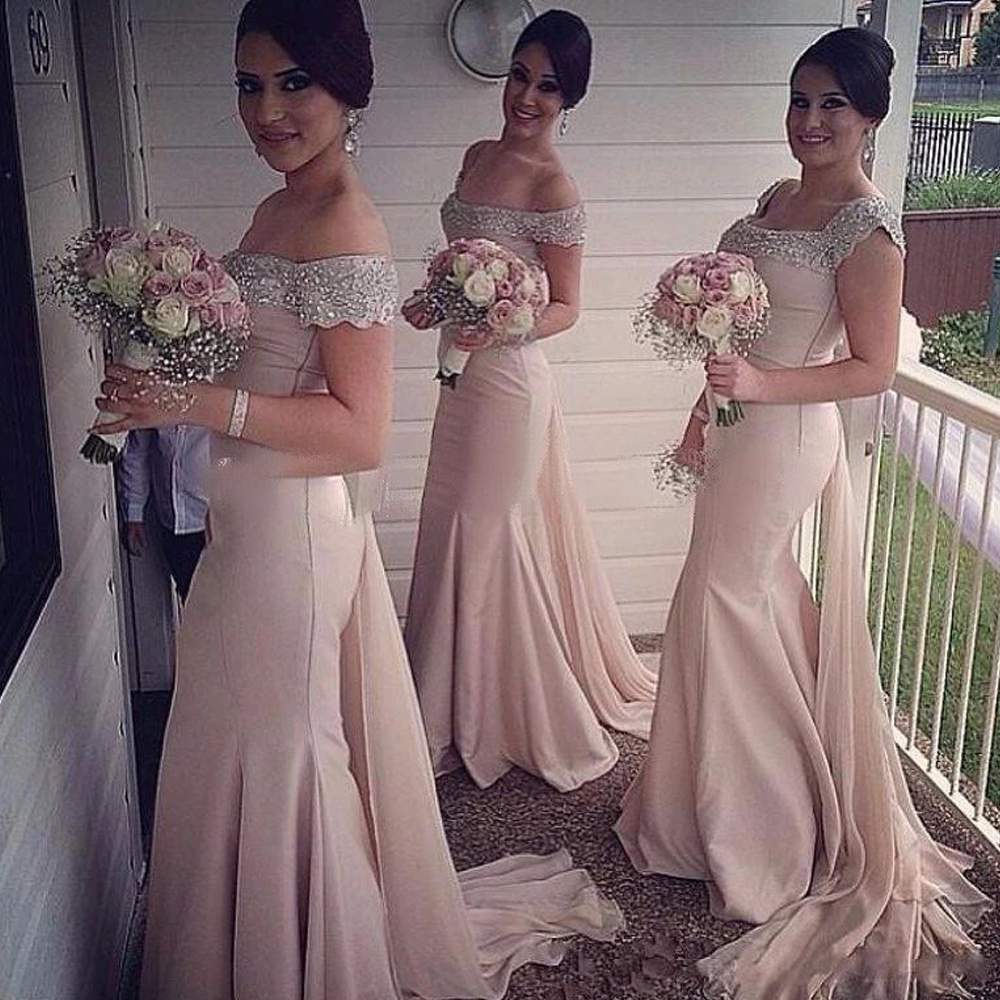 Wedding Nude Bridesmaid Dress online buy wholesale nude bridesmaid dresses from china rf35 blush pink mermaidchina mainland