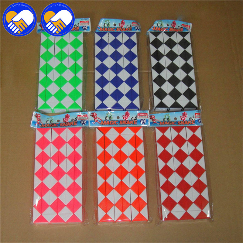 A TOY A DREAM New 72 Blocks Magic Snake Ruler Cubes Spinner Puzzle Standard Version Children Education Imagination Game Toy