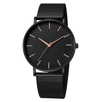 Luxury Stainless Steel Ultra-thin Unisex Quartz Wrist  Watches 3