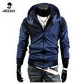 2016 NEW Fashion Men Hoodies Brand  Suit High Quality Men Sweatshirt Double Zipper Hoodie Casual Hooded Jackets Mens XXL