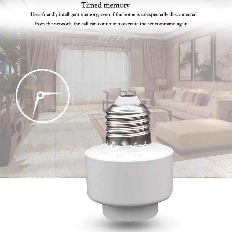 433MHz RF Wireless Control Light Holder E27 Smart Home Universal WiFi Light Lamp Bulbs Holder for Alexa Home