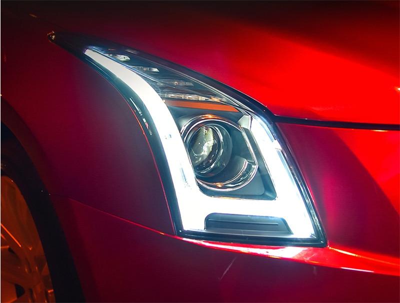 Free shipping vland headlamp for Cadillac ATSL headlight 2014 2015 2016 led bar headlamp H7 xenon lamp plug and play design casio xj a147