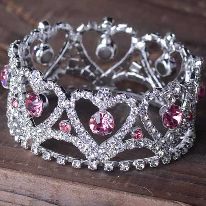 2018 детский праздничный Костюм Тиара стразы принцессы корона Новорожденный Фотография реквизит для студийной съемки Тиара повязка на голову fotografia