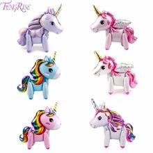 FENGRISE Unicorn Party Decorations Birthday Decor Kids Supplies Boy Girl Baby Shower Favor Unicornio