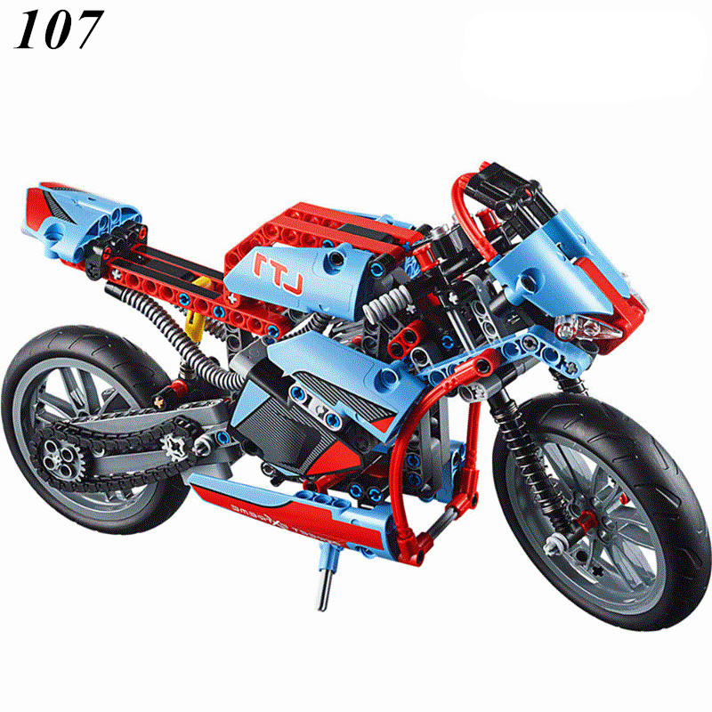YILE NEW 107 A 2 in 1 3353 3354 Lepin Technic Motorbike Motorcycle Car building bricks blocks toys for children Boy Bela 8051 1pcs fishing lures 12 5cm 12 4g minnow lure 6 color select high quality hard bait crankbait wobbler fishing tackle wholesale