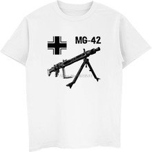 dea6bbce117 Summer Hot Sale Men Cotton T-shirt Mg 42 Machine Gun Germany Wwii T Shirt  Casual Male Hip Hop Tees Tops Harajuku Streetwear