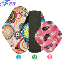 Menstrual Cloth Pads L size Organic bamboo inner washable reusable breathable Feminine Hygiene sanitary menstrual pads