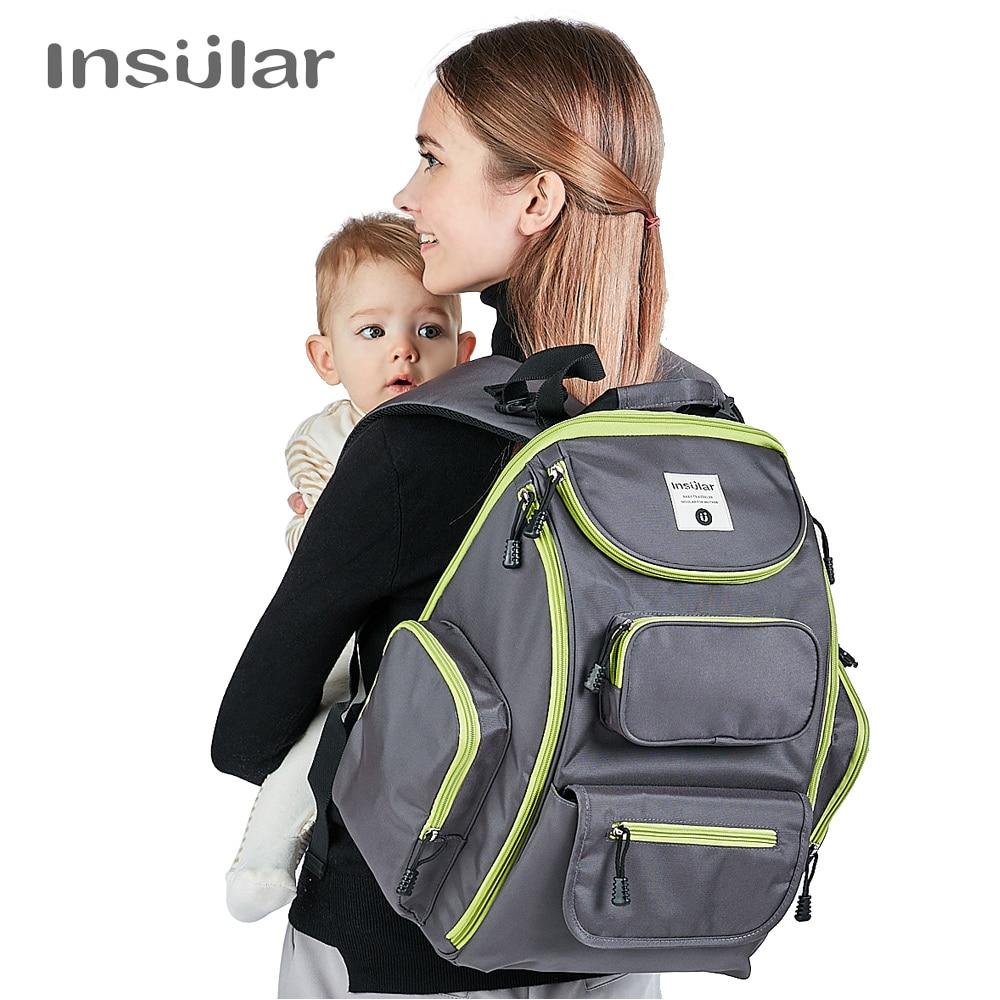 все цены на Insular Baby Diaper Nappy Stroller Bag Large Capacity Maternity Diaper Bag Travel Backpack Mummy Nursing Mother Organizer Bag