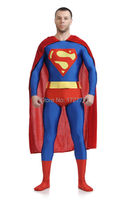 (LS7258)Red And Blue Lycra Spandex Tights Unisex Cheap Super Man Fetish Zentai Suits Superhero Halloween Costume