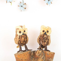 6 2 2pcs Lot Animal Bird Owl Table Decors For Home Christmas Natal New Year S