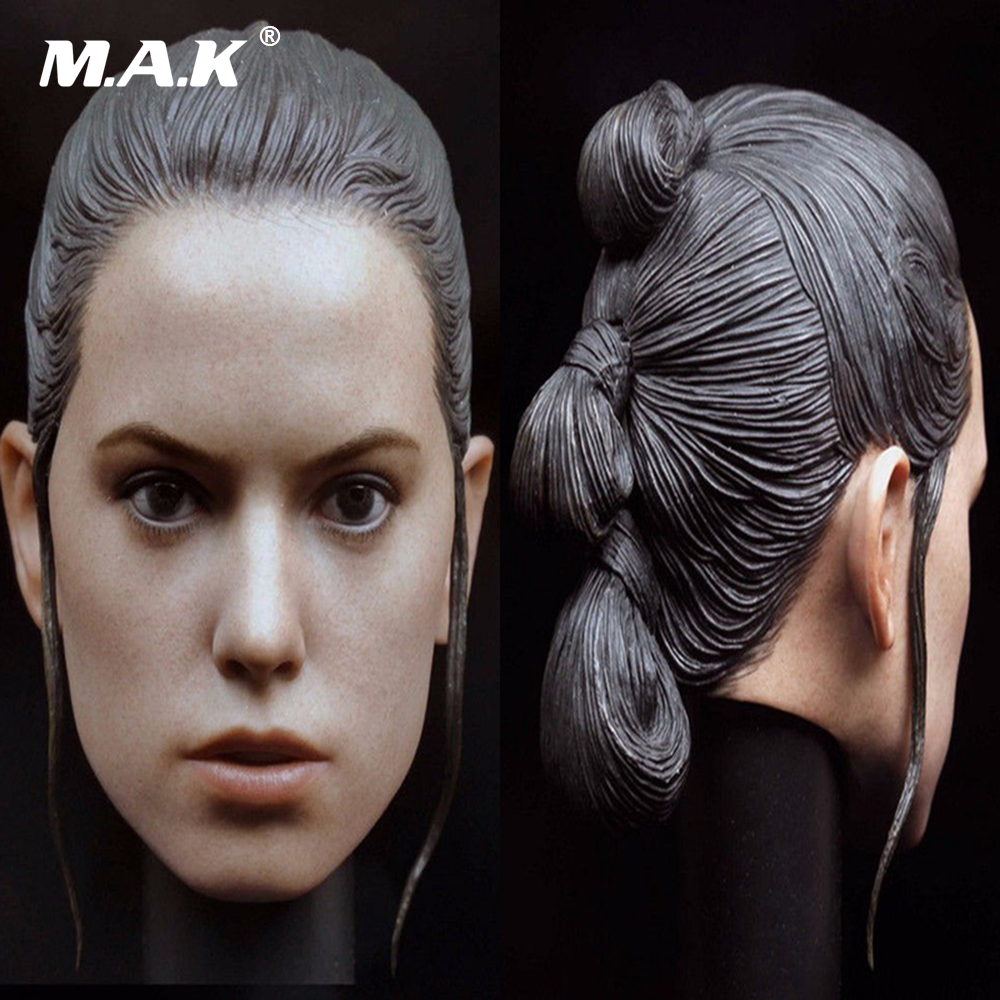 "1//6 The Force Awakens Rey Braid Women Female Head Carving Fit 12/"" Toys"