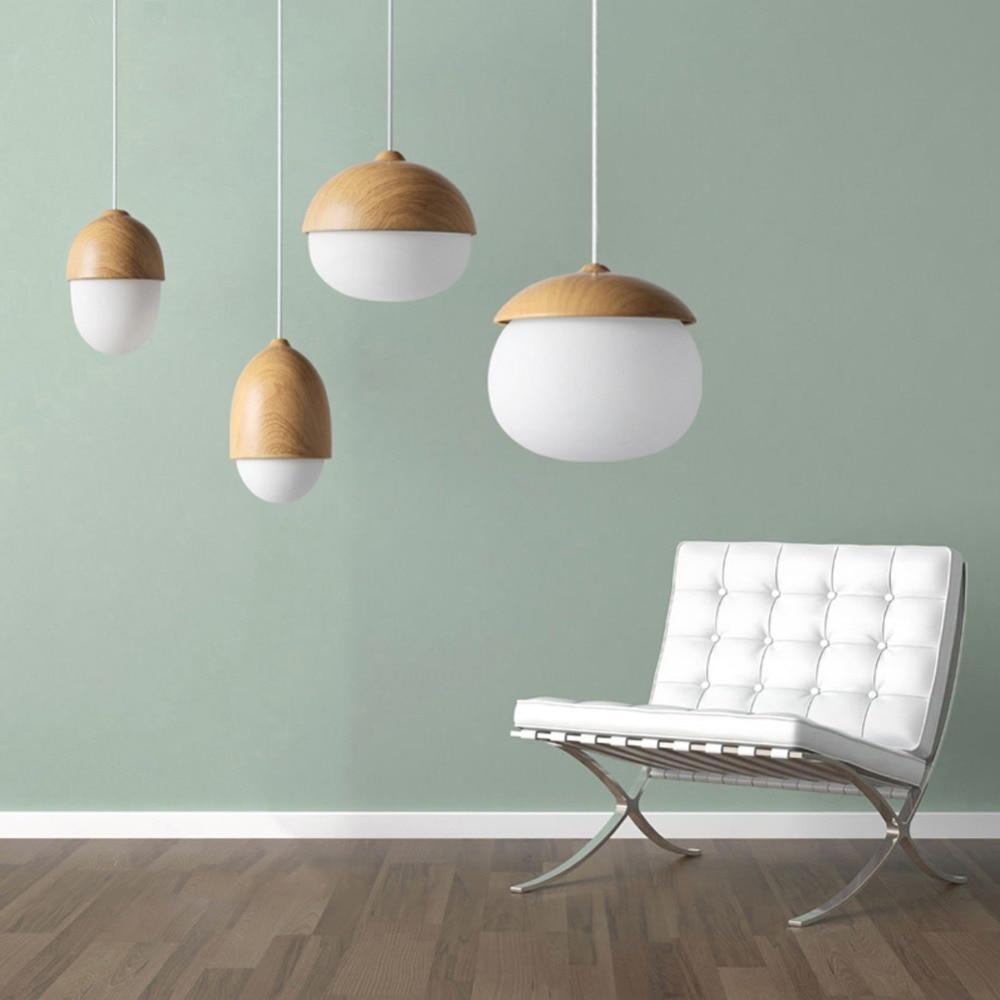 buy american country pendant light creative wood pendant lamp glass ball hanging lamp nordic designer light art deco lighting abajur from