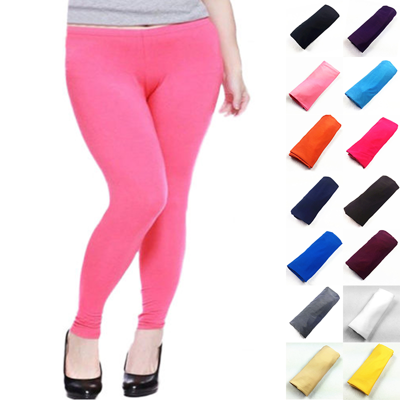 Trousers Women Clothing Slim Summer Style Fashion Pencil Pants Plus Size Elastic Leggins Push Up Candy Color Ladies Leggings