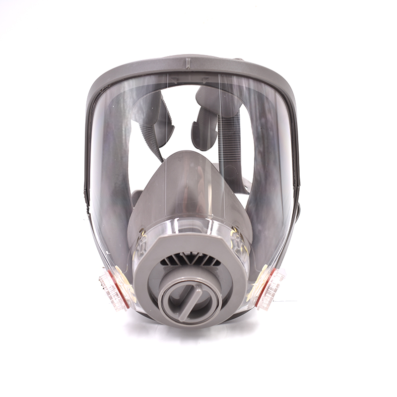 Gas Mask Full Face Silica Gel 1 in 2 Chemical Respirator Paint Mask Mining Feguridad Industrial Filters Anti Dust Air Spary Mask new safurance protection filter dual gas mask chemical gas anti dust paint respirator face mask with goggles workplace safety