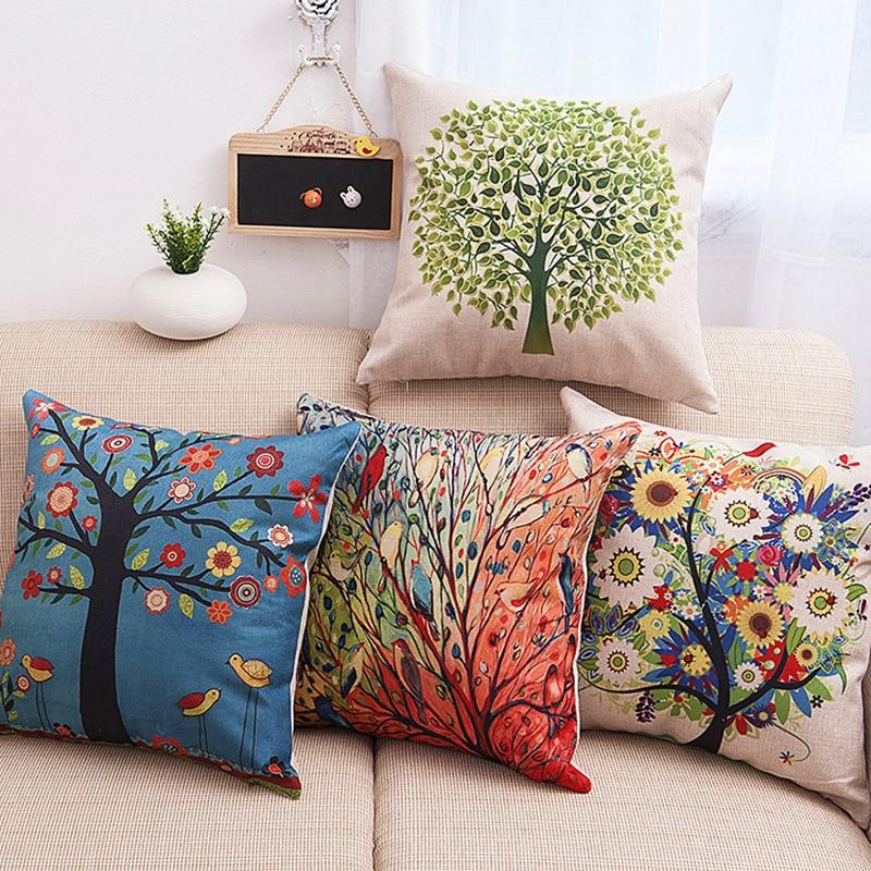 Варианты диванных подушек
