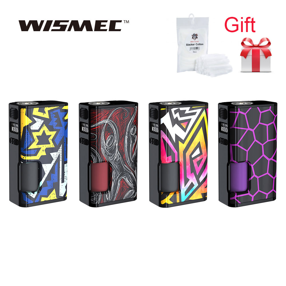 Free Gift Wismec Luxotic Surface 80W Luxotic Surface Box MOD w 6 5ml squonk bottle Fits