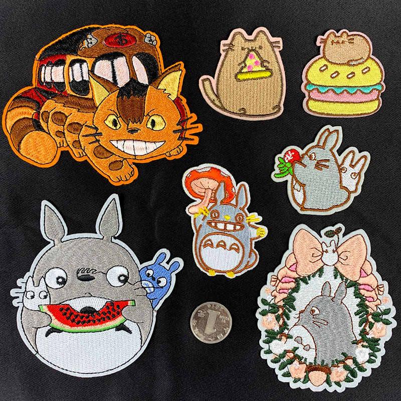 7 tarzı Totoro Motif Çizgi Film Cosplay Rozeti Yüksek kaliteli Nakış Yama Çocuk Giysileri Süslenmiş Kumaş