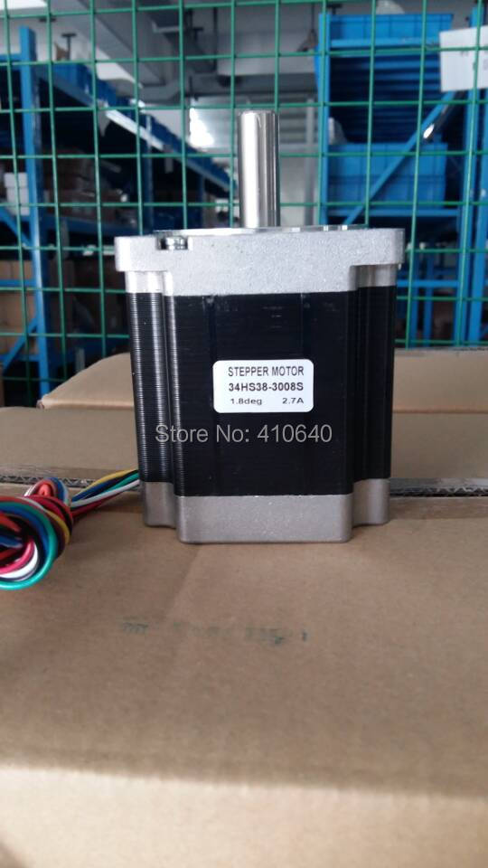 5 pieces per lot ! Stepper motor 34HS38-3008S L 97 mm Nema 34 with 1.8 deg current 3 A torque 5 N.cm and 8 wires цена