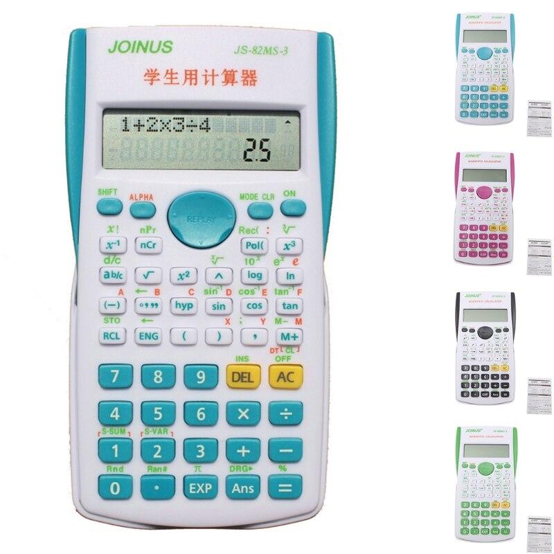240 функций 2 линии Дисплей 12 цифровой электронный научный калькулятор новая Студенческая калькуляторы Прямая доставка-PC друг