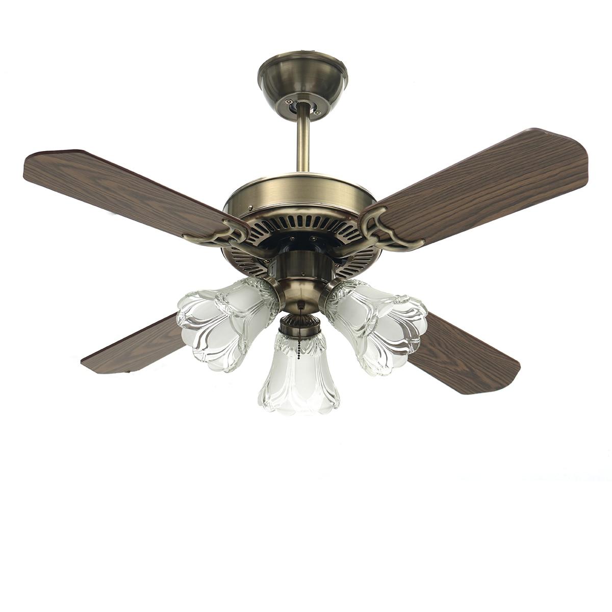Miisng 36 pouce LED Ventilateur de Plafond E27 Ampoule pour Salon Ventilateurs de Plafond Avec Des Lumières Ventilateur De Refroidissement Ventilateur À Distance Lampe AC110-240V