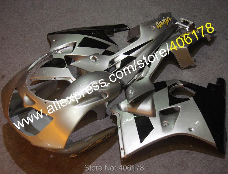 Hot Sales,For Kawasaki Fairing ZXR250R 90-98 ZXR250 ZXR 250R Ninja ZXR 250 1990-1998 Silver Black Motorcycle fairings kit
