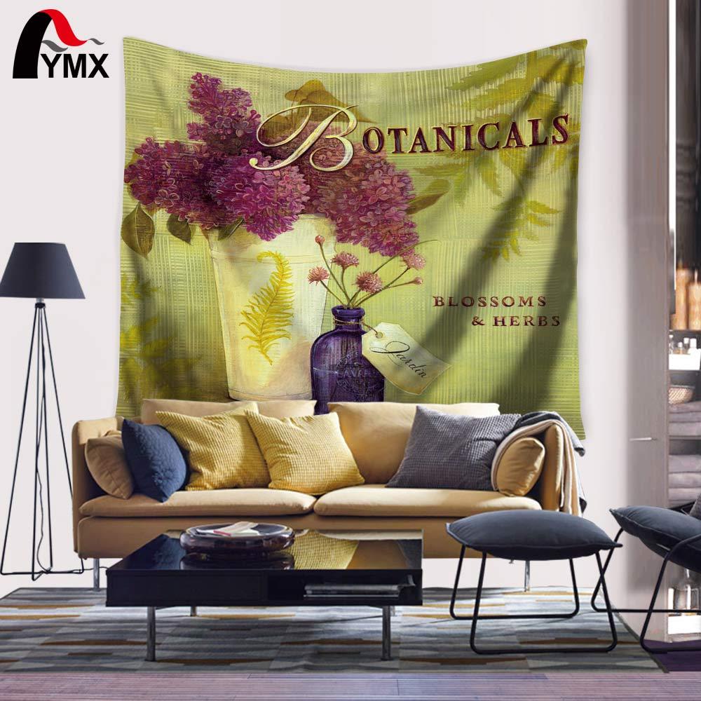 Wholesale 150X130/200CM Flower Tapestry Digital Printing Floral ...