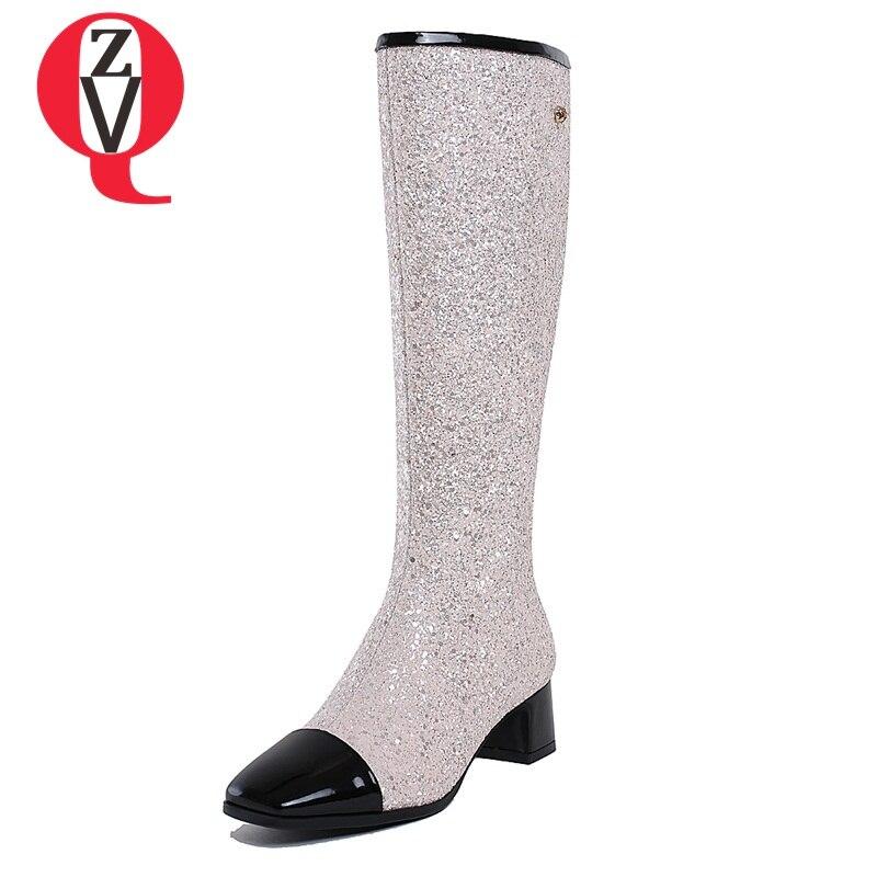 ZVQ winte Bling party sexy tamaño grande 34-43 botas de mujer de - Zapatos de mujer