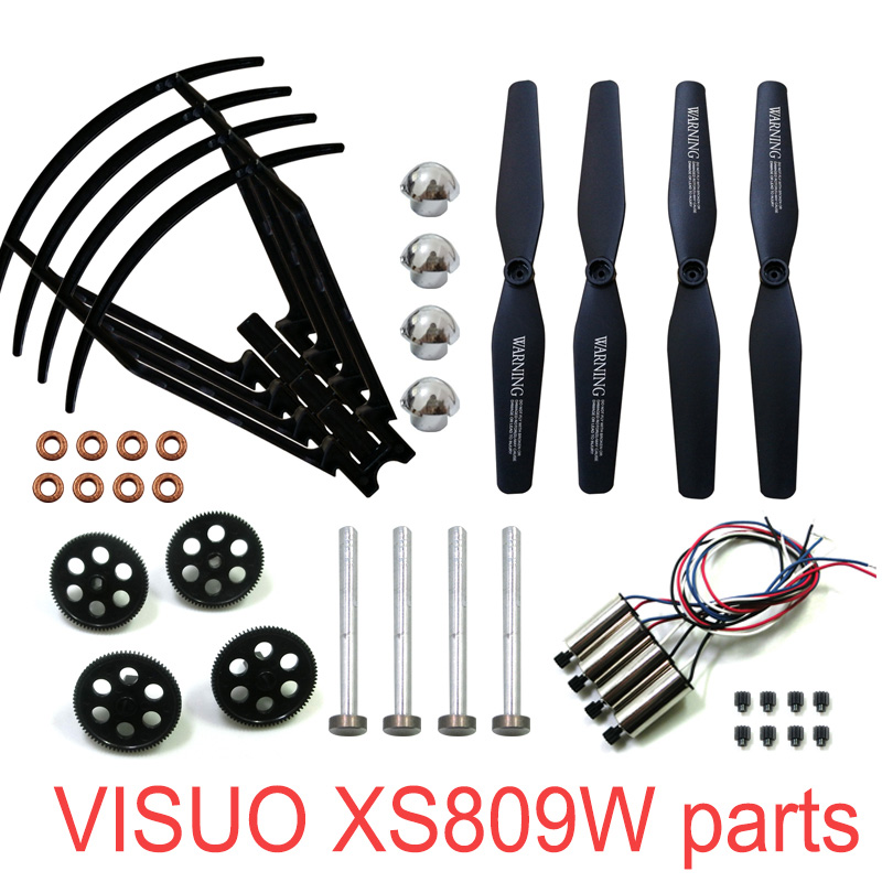 RC Drone Original Parts VISUO XS809W XS809HW XS809 RC Quadcopter Spare Parts Spindle Geared Bearing Motor Geared Engine