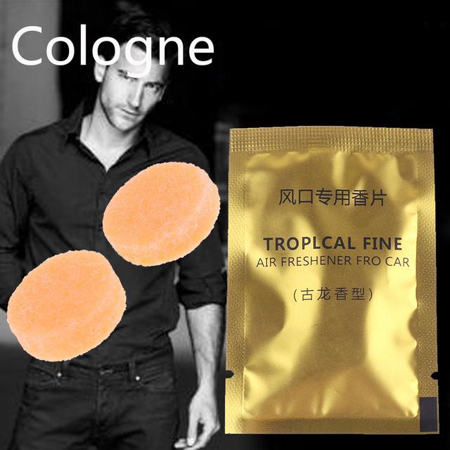 5 Packs Car Styling Air Freshener Aroma Solid Perfume Lemon Peach Ocean Lavender Cologne Flavoring Auto Interior Fragnace Sachet