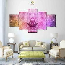 3-4-5 Pieces Abstract Buddha Modern Wall Art Canvas Printed Painting HD Prints Modular Poster Pictures for Home Decor