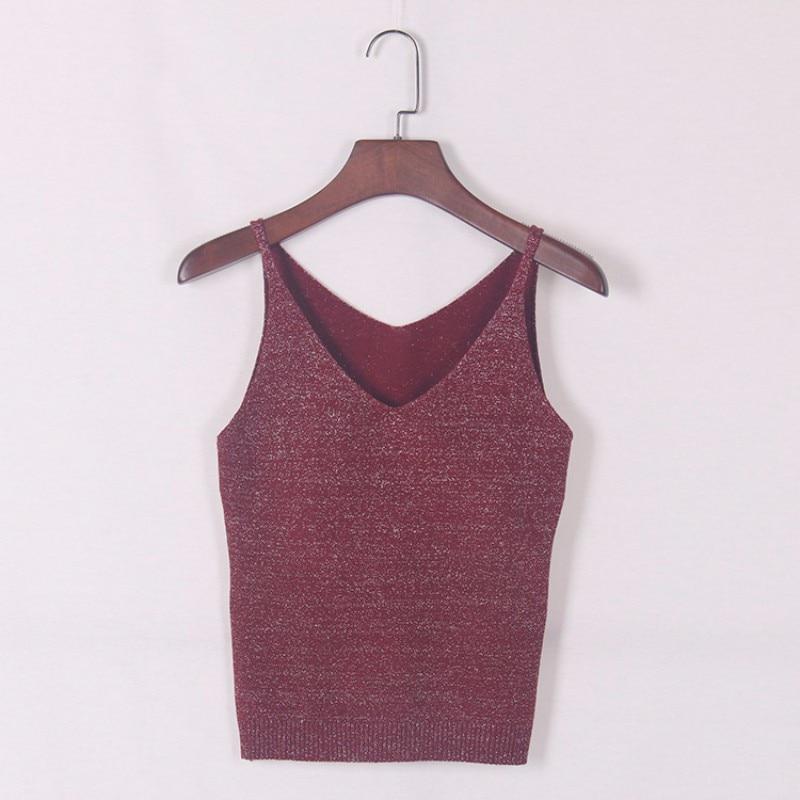 HTB1Zk.MKVXXXXbxaXXXq6xXFXXXw - FREE SHIPPING  V-Neck Sweater Strappy Sleeveless Vest Women Tank Tops JKP251