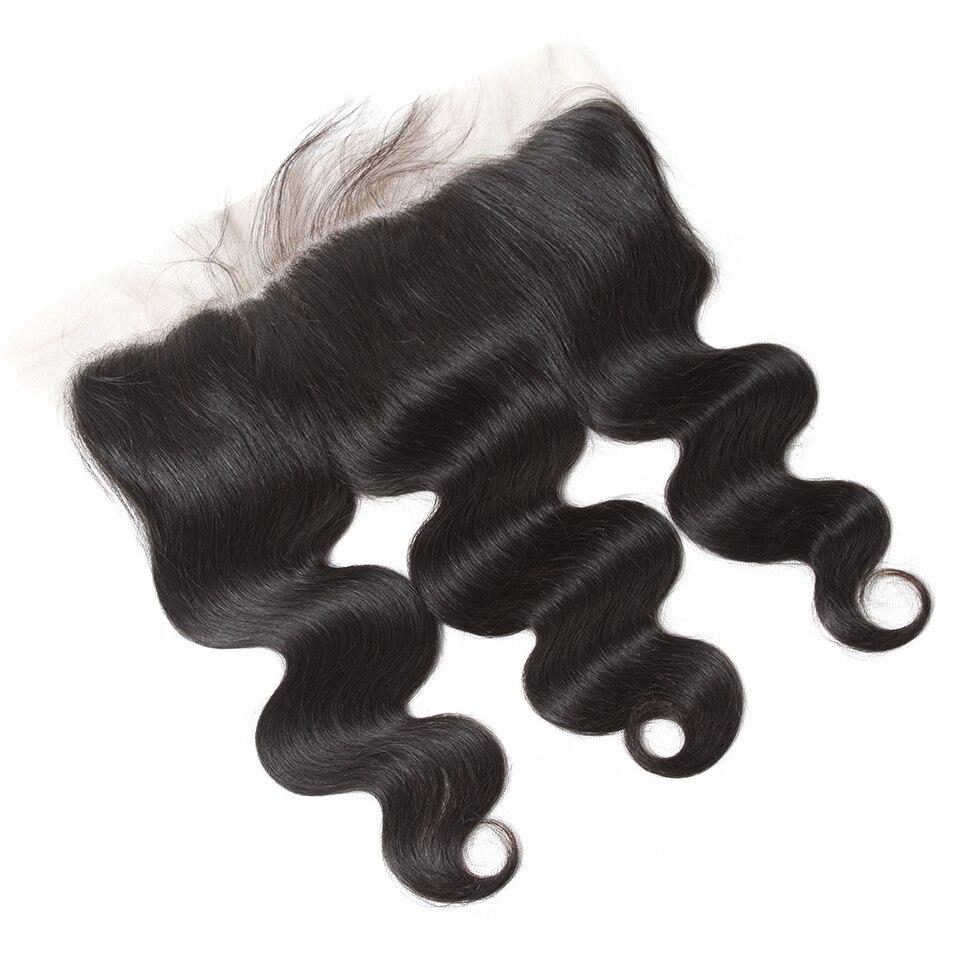 HTB1Zk.anwMPMeJjy1Xdq6ysrXXak QueenLike Hair 13x4 Lace Frontal Closure With Bundles Non Remy Brazilian Hair Weave Body Wave Human Hair Bundles With Closure