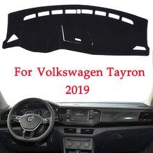 Araba Dashboard Önlemek Için ışıklı çerçeve Volkswagen TAYRON 2019 enstrüman Platformu Masası Kapağı Paspaslar Halı Otomotiv iç ürün