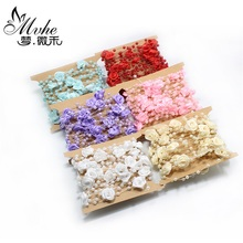 Fishing Line Pearls diy Cloth art rose flower wedding party decoration crafts Multicolor ribbon craft Party Supplies