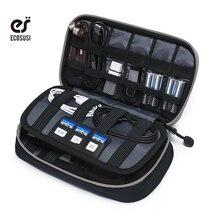 Ecosusi Voyage Portable Accessoires Électroniques Organiseurs Sac De Rangement Pour iPhone Écouteur Données Ligne Carte SD USD