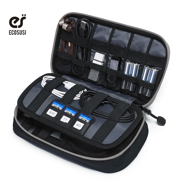 Ecosusi Portable Electronic Accessories Bag For Iphone Earphone Data Cable Sd Card Usb To Travel In