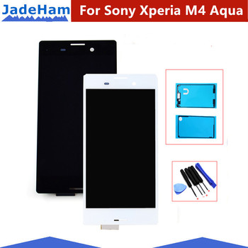 цена на For Sony Xperia M4 Aqua LCD Display Touch Screen Digitizer Assembly with Frame For Sony M4 Aqua E2303 E2306 E2353 E2333 LCD 5