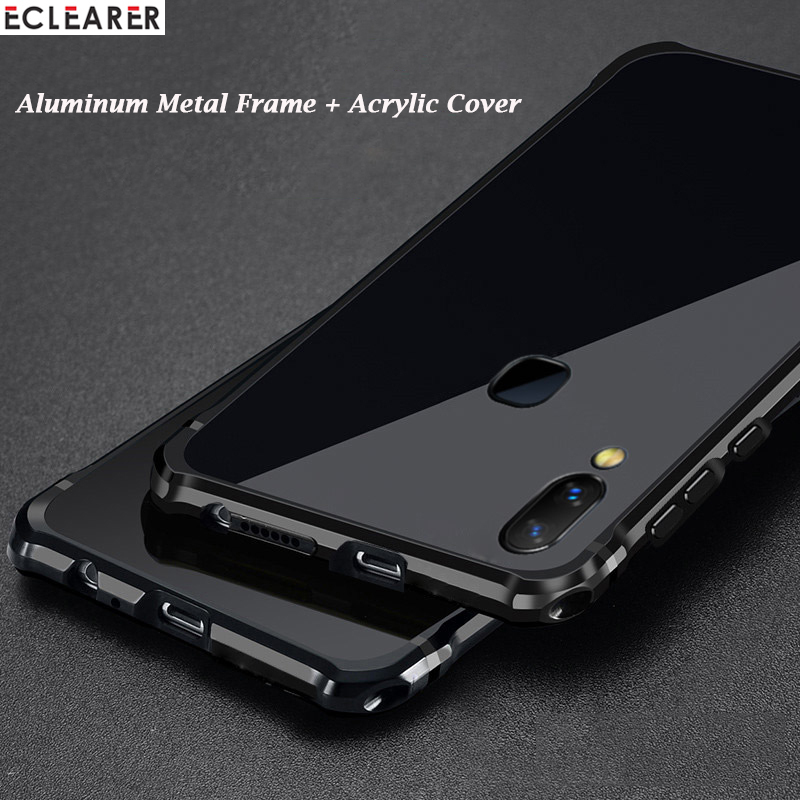 best service c05f6 7b601 US $14.59 40% OFF Luxury Case For VIVO NEX A Drop Protection Plated  Aluminum Metal Bumper + Acrylic PC Back Cover For VIVO NEX S/ NEX A Case  Coque-in ...