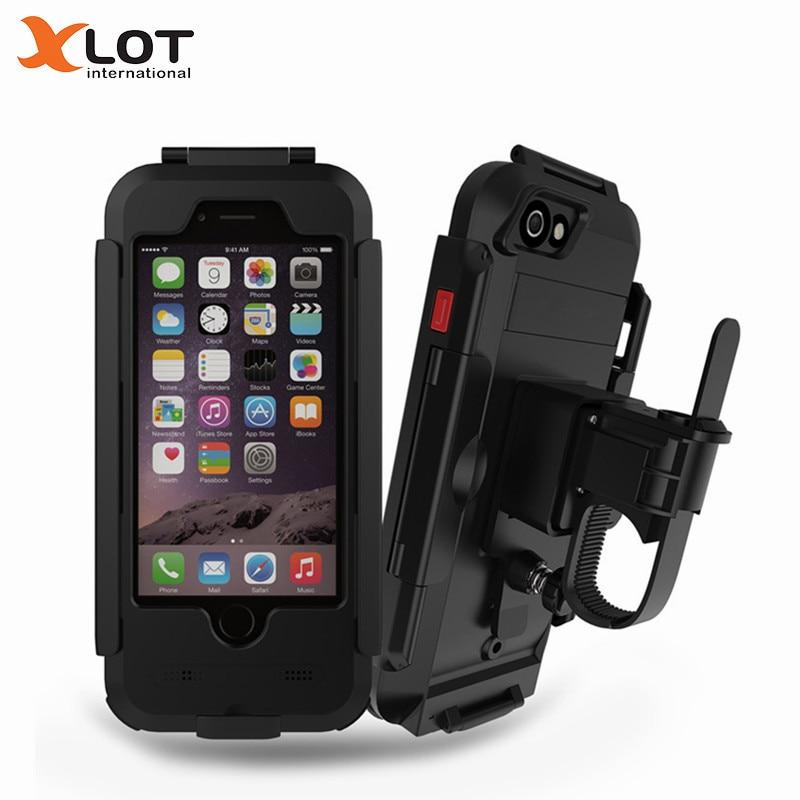 imágenes para Caja Del Teléfono impermeable para Bicicleta de Manillar Holder Clip Soporte Soporte de Montaje Soporte para iPhone 6 6 S de Navegación GPS Moto titular