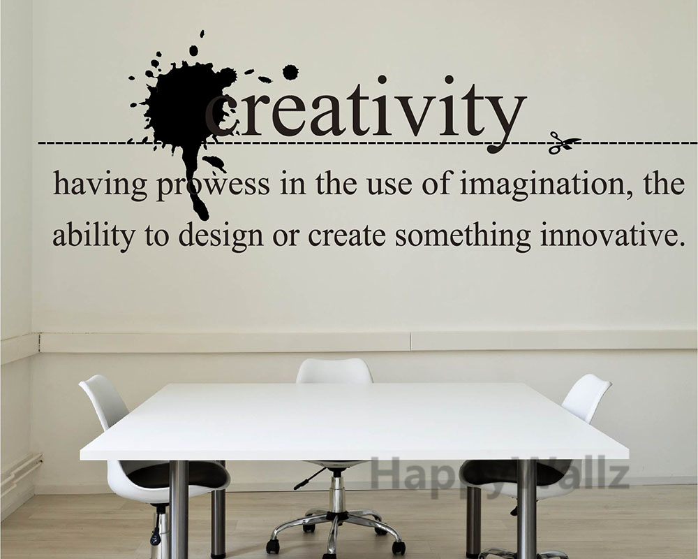 Creativity Motivational Quote Wall Sticker Inspirational Quote - Wall decals motivational quotes