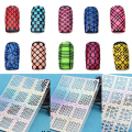 Newest Nail Art Hollow Template Sticker Stamp Stencil Guide Manicure Tips Stamping Tool
